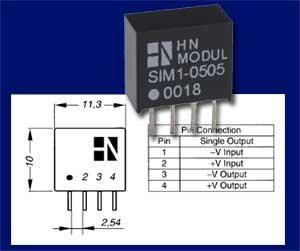 DC/DC-Wandler Bauform SIM-Modul (12 auf 24 Volt 42mA max.)