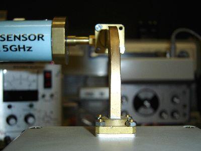 Power-Sensor zur Leistungsmessung angeschlossen.
